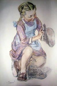 Автолитография А.Ф.Пахомова. Сама.