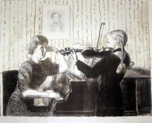 В классе скрипки